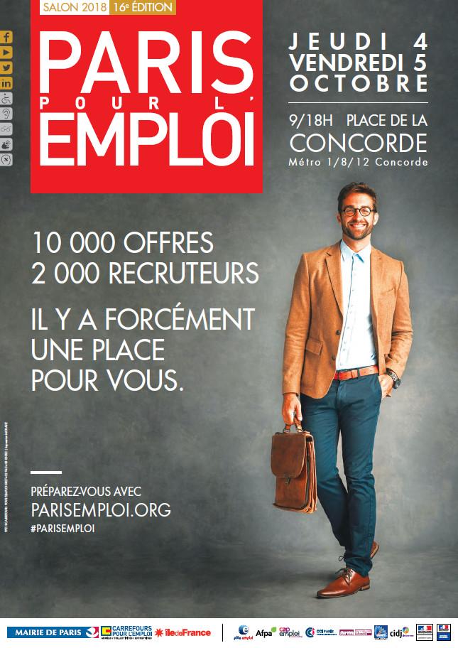 Salon paris pour l emploi 4 et 5 octobre fongecif le de france - Salon emploi ile de france ...
