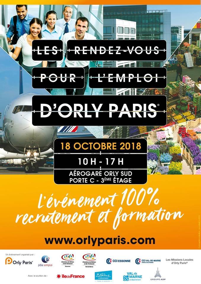 Rdv pour l 39 emploi d 39 orly paris fongecif le de france - Salon emploi ile de france ...